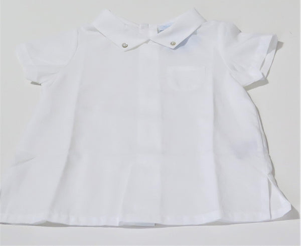 LARANJINHA DRESSY SHORT SLEEVE SHIRT WITH BUTTONS DOWN THE BACK