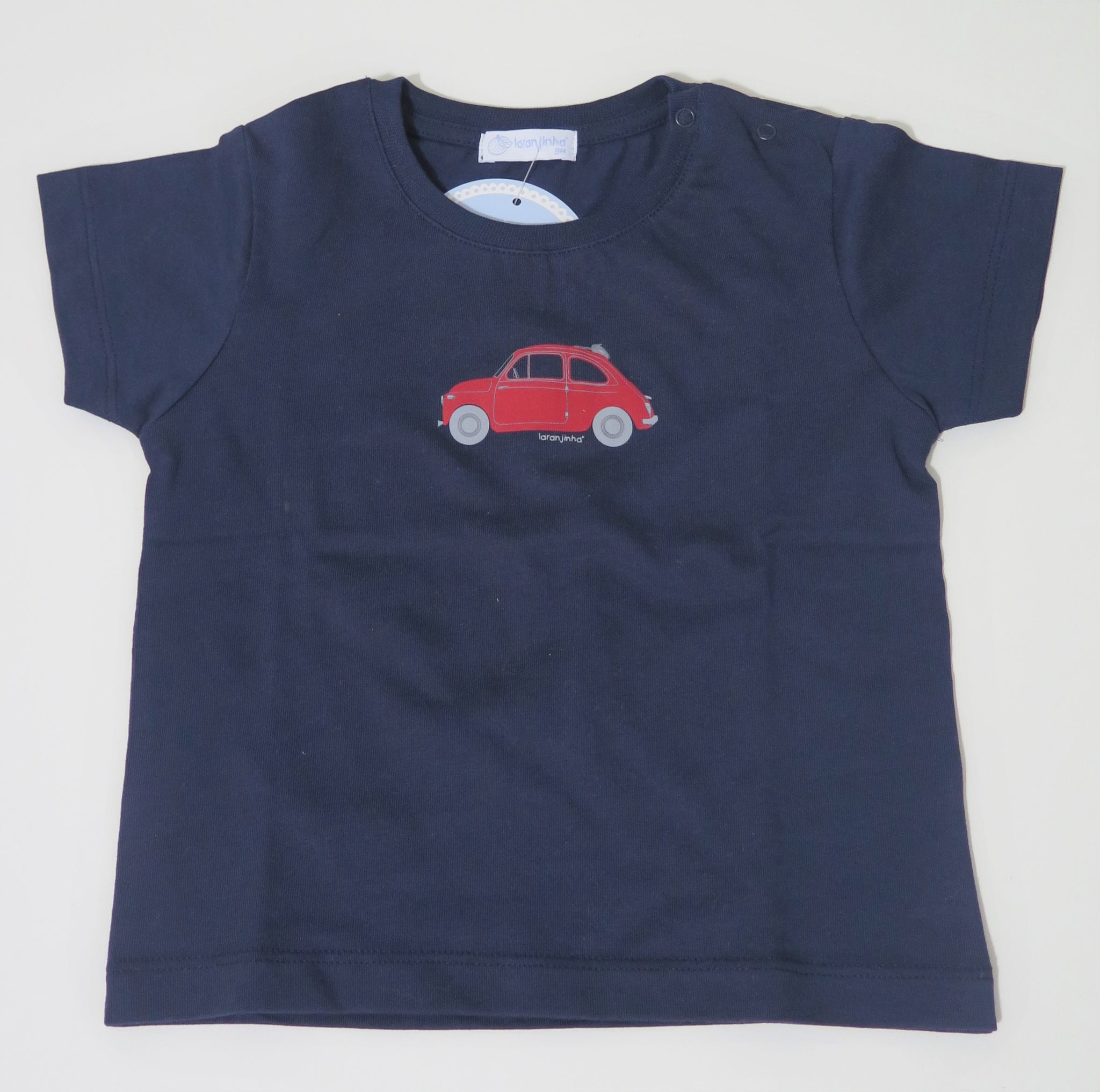 LARANJINHA NAVY T-SHIRT WITH RED CAR
