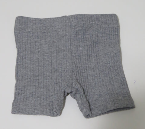 CREW KIDS GREY RIBBED SHORT LEGGINGS