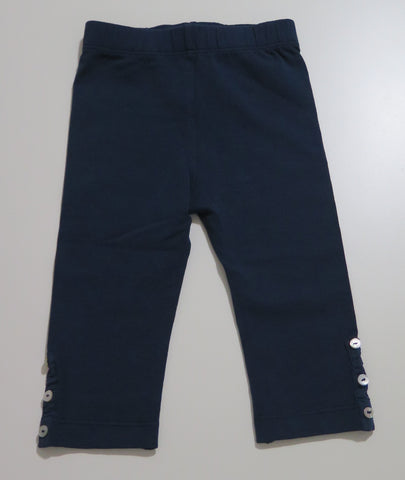 LARANJINHA NAVY LEGGINGS WITH BUTTONS