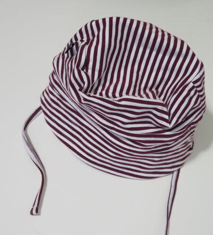 NOESER MAROON STRIPE BUCKET HAT