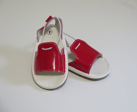 KIWI HARD-SOLED RED SANDALS
