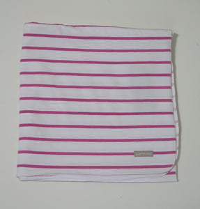 Pure Child pink striped blanket