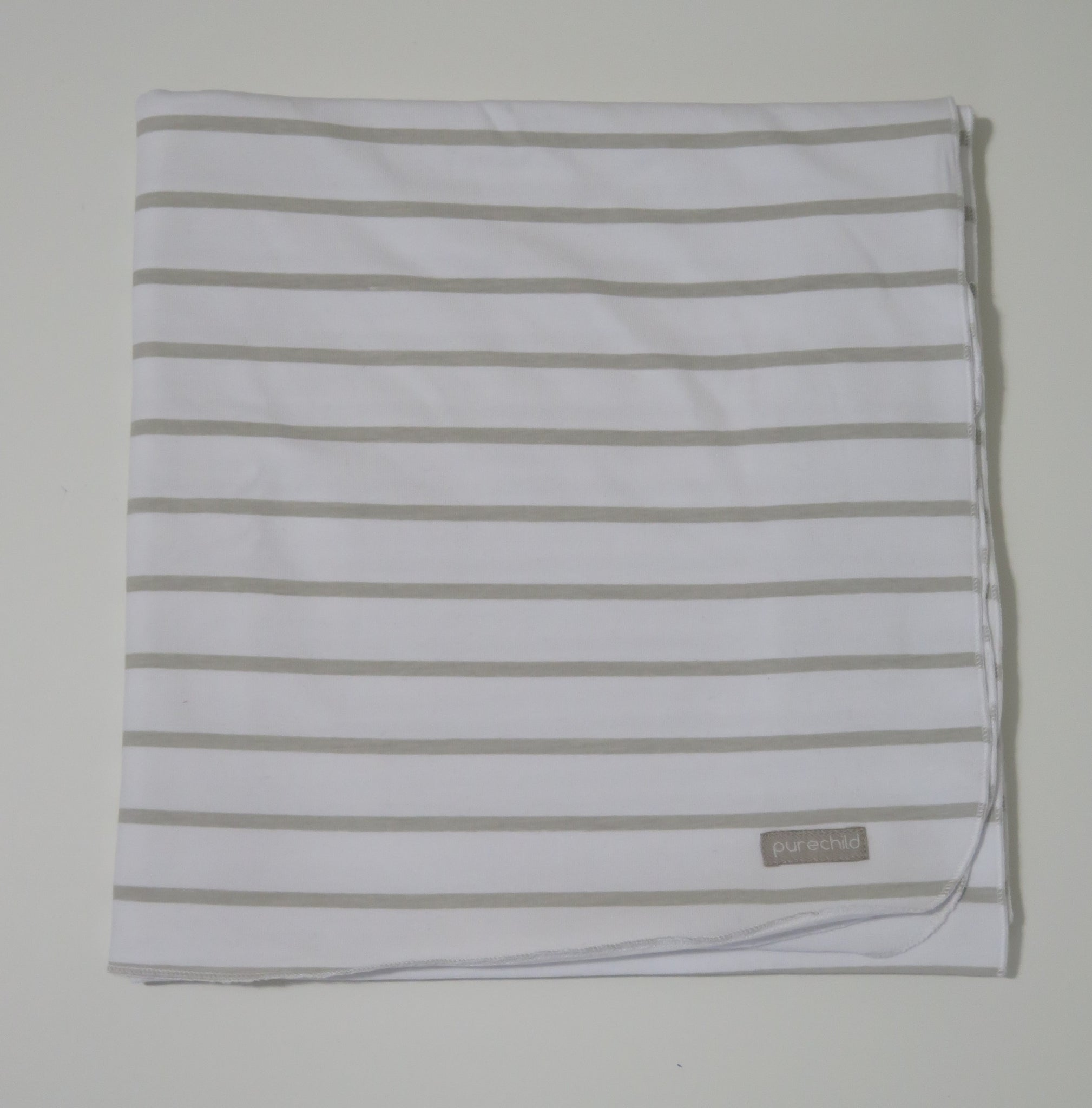 Pure Child natural striped blanket