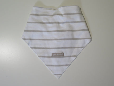 Pure Child natural stripe bandana bib