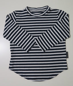 Navy & white striped long sleeve t-shirt