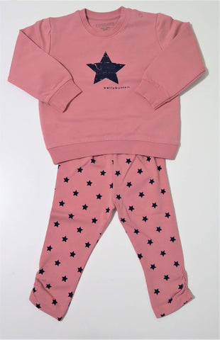 Bellybutton pink sweatshirt and star print leggings