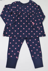 Bellybutton navy & pink stars 2 pc set