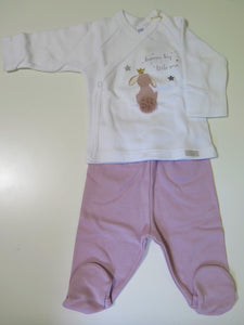Elfi e fate footed 2 pc set with bunny image