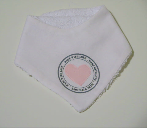 Elfi e Fate bandana bib with pink heart