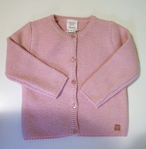 Carrement Beau pink knit button down cardigan