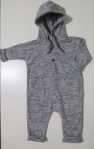 Message in the bottle grey hooded romper