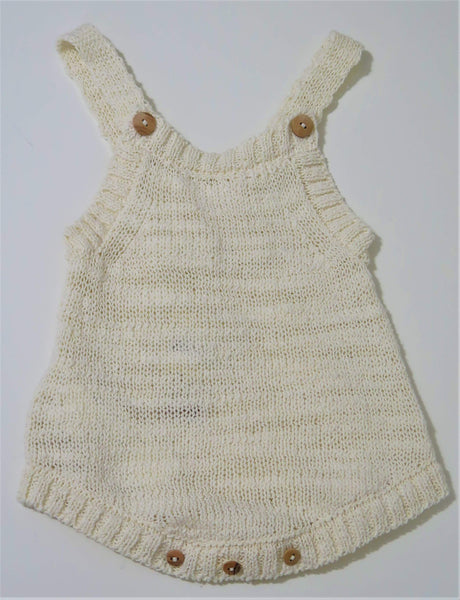 MESSAGE IN THE BOTTLE OFF WHITE KNIT ROMPER