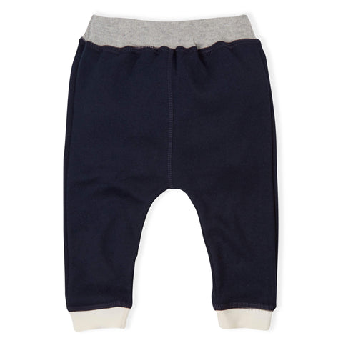 ORGANIC ZOO NAVY PANTS WITH IVORY CUFS & GREY WAISTBAND