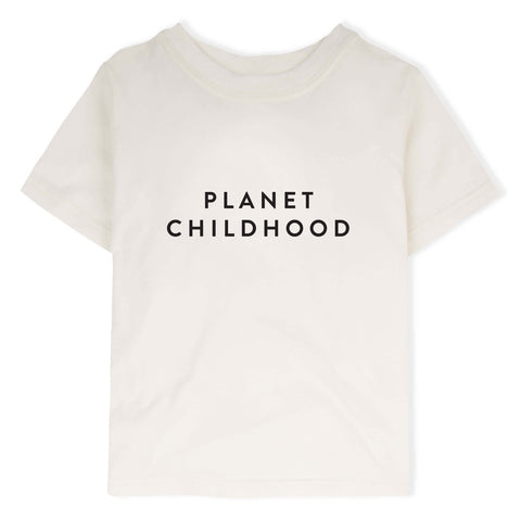 ORGANIC ZOO PLANET CHILDHOOD IVORY T-SHIRT