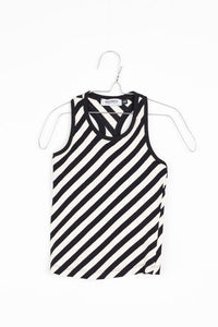 MOTORETA BLACK & WHITE DIAGONAL STRIPED TANK