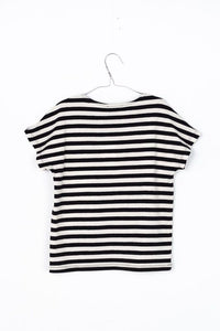 MOTORETA BLACK AND WHITE STRIPED T-SHIRT