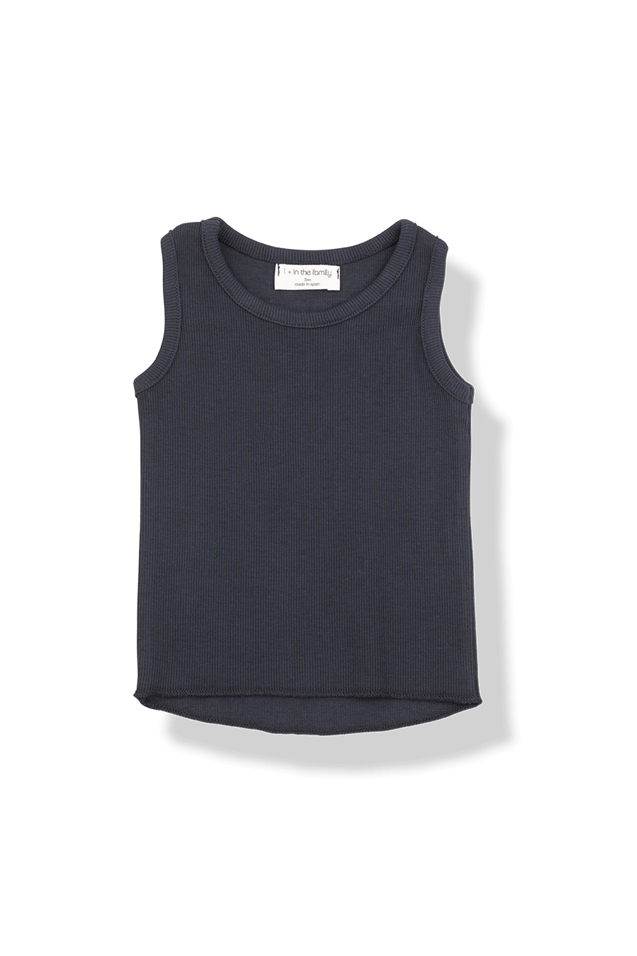 1+IN THE FAMILY NAVY RIBBED TANK TOP