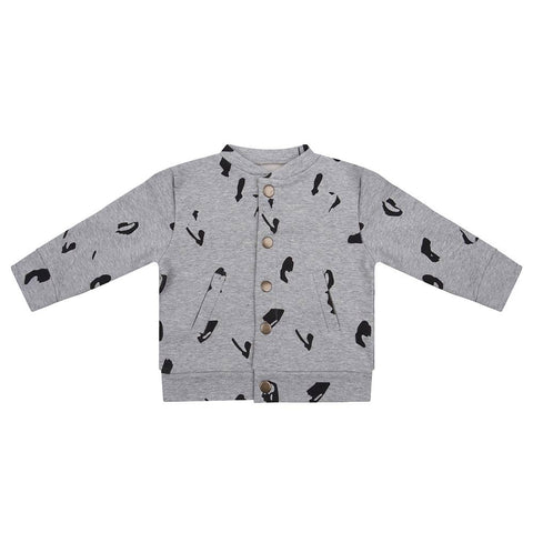 LITTLE INDIANS GREY BASEBALL JACKET