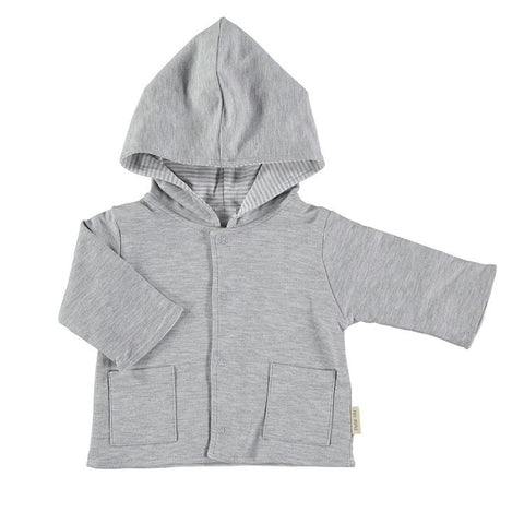 PETIT OH GREY REVERSIBLE SWEATER