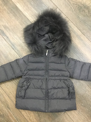 Pramie girls grey winter coat