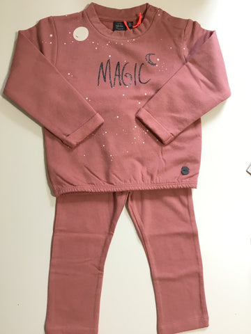 Baby face pink ruby magic sweatshirt and legging