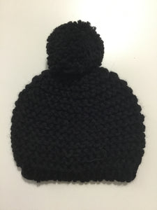 Petit oh black knit hat