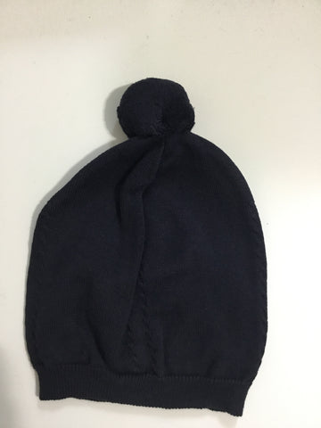 Feltman brothers navy knit pom pom hat
