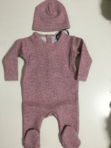 P&P Heather pink stretchy & hat
