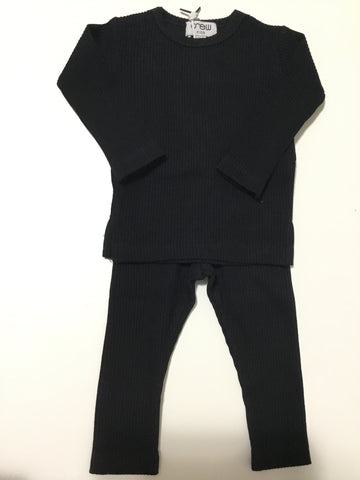 Crew Kids black ribbed set