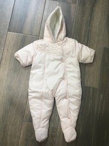 Carrement Beau baby pink snow suit