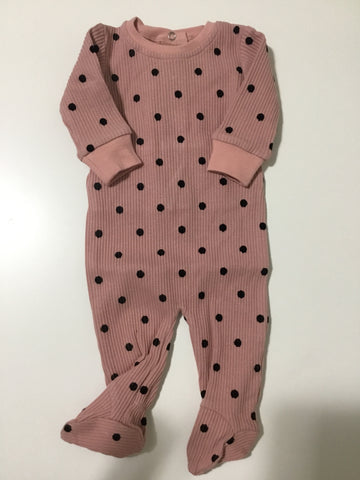 Tugg pink velvet dot stretchy