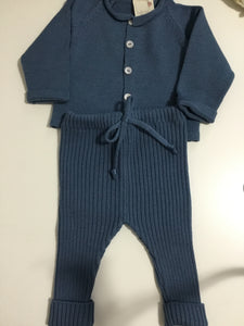 Beautiful peacock blue knit 2pc set