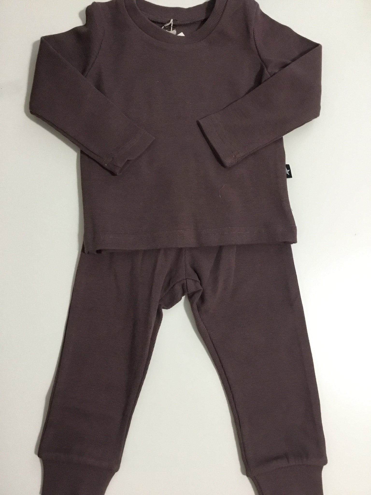 Petit Clair purple ribbed pjs