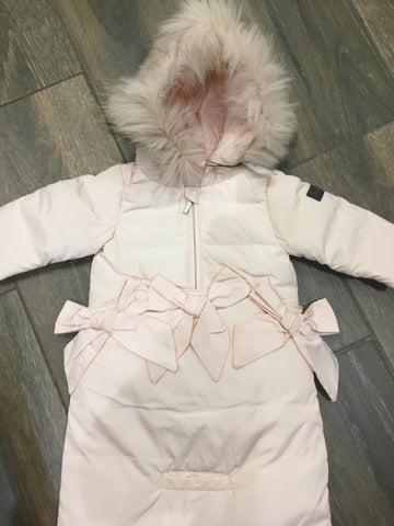 Pramie baby girl snowsuit