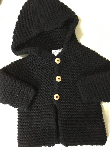 Petit oh black knit sweater