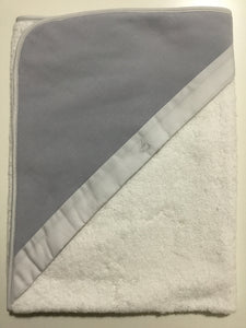 Laranjinha grey hooded towel