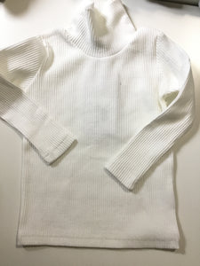 crew kids white ribbed turtleneck