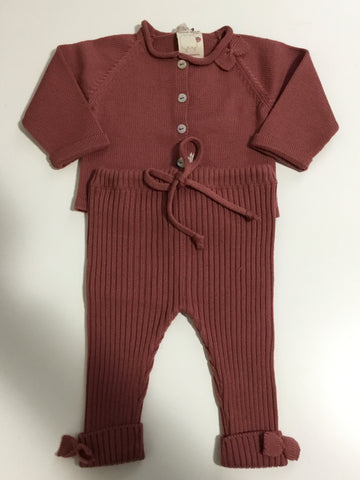 Beautiful mauve knit 2pc set