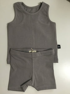 Petit Clair grey racerback tank & leggings