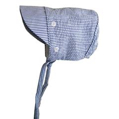 BLUE SEERSUCKER SUN BONNET