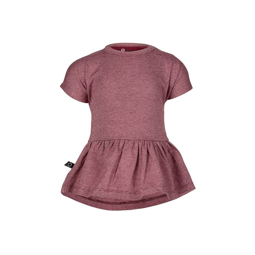 NOESER GIRLS RUFFLED TOP & MAROON LEGGINGS