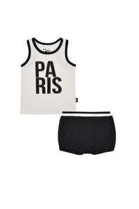Petit Clair Paris tank & bloomers set