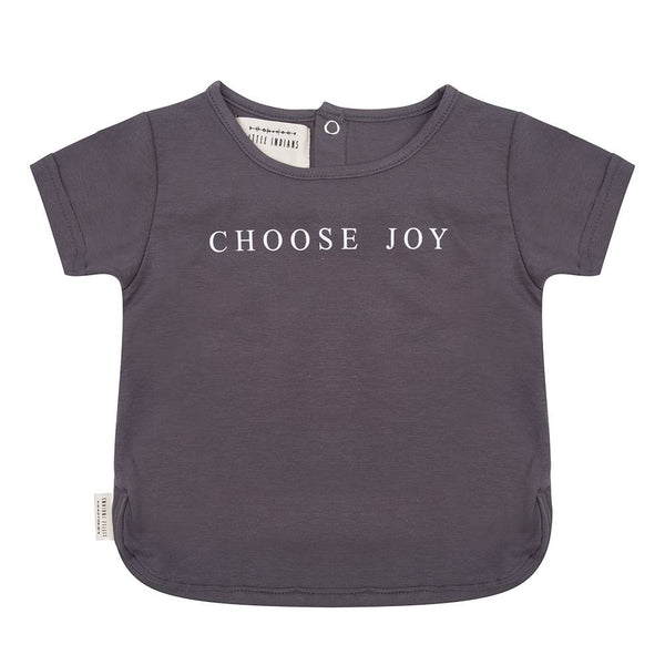 LITTLE INDIANS CHOOSE JOY TOP AND FEATHER PRINT PANTS SET