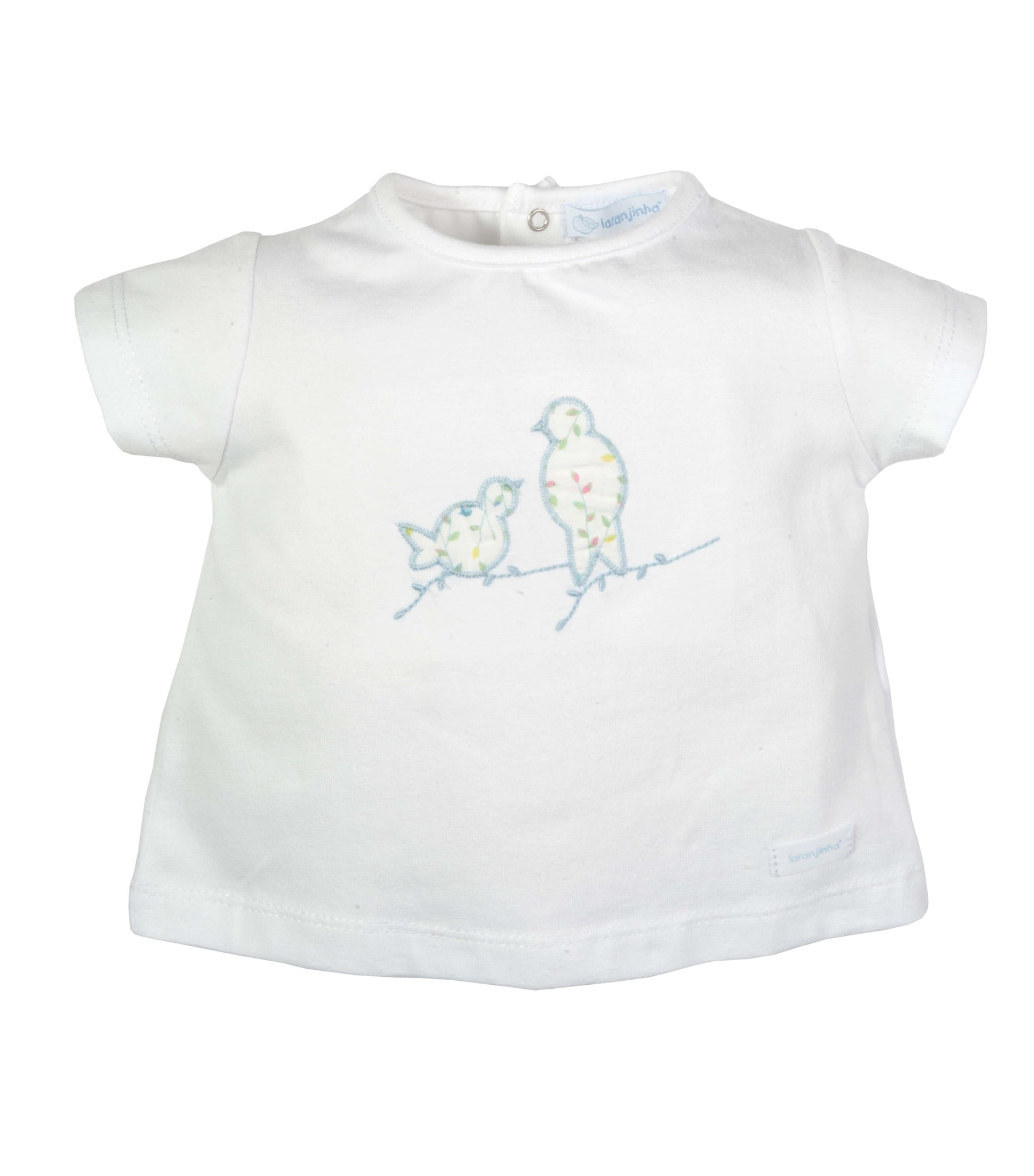 LARANJINHA T-SHIRT WITH EMBROIDERED BIRDS