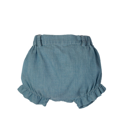LARANJINHA LIGHT DENIM GIRLS SHORTS