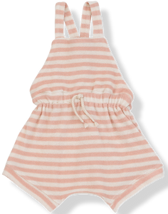 1+IN THE FAMILY PINK STRIPE TERRY ROMPER