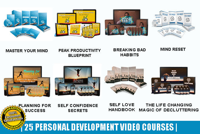25 courses on personal development, self help etc