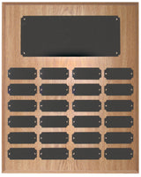 Oak Finish Completed Perpetual Plaque