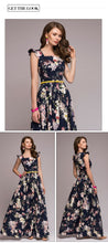 Women Flowery  Square Collar Sleeveles